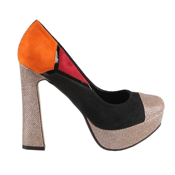 Machi by Beston Women's 'Candies-5' Chunky Heel