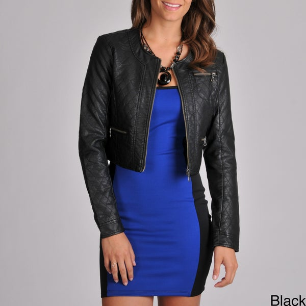 Members Only Women's Crop All Over Quilted Jacket