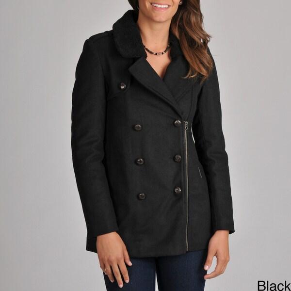 Members Only Women's Rachel Sherpa Collar Pea Coat