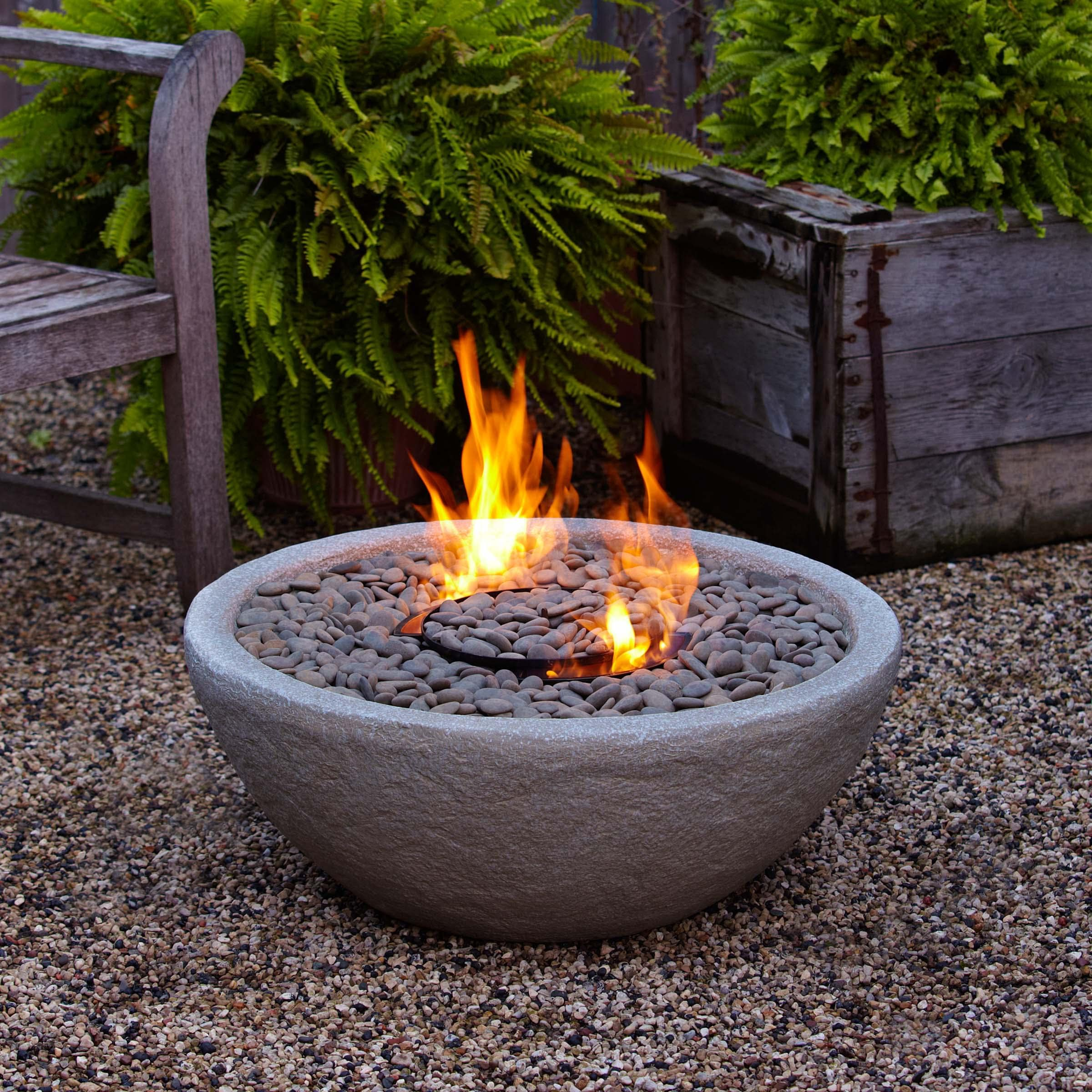 Shop Real Flame Hampton Fiber Concrete Firebowl Free