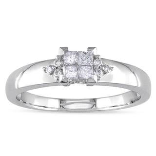 Miadora 14k White Gold 1/4ct TDW Diamond Ring