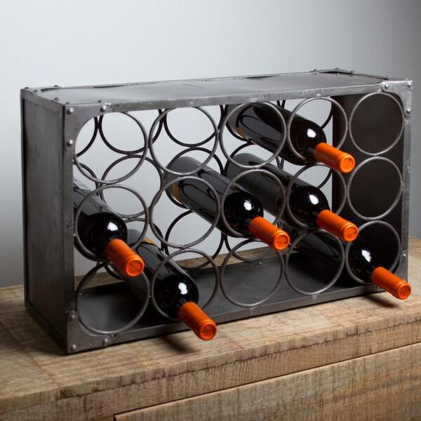Natural Finish 15-Bottle Wine Rack (India)
