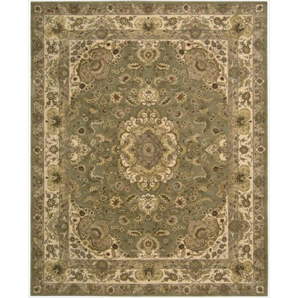 """ourison 2000 Hand-Tufted Tabriz Green Area Rug (8'6"""" x 11'6"""")"""
