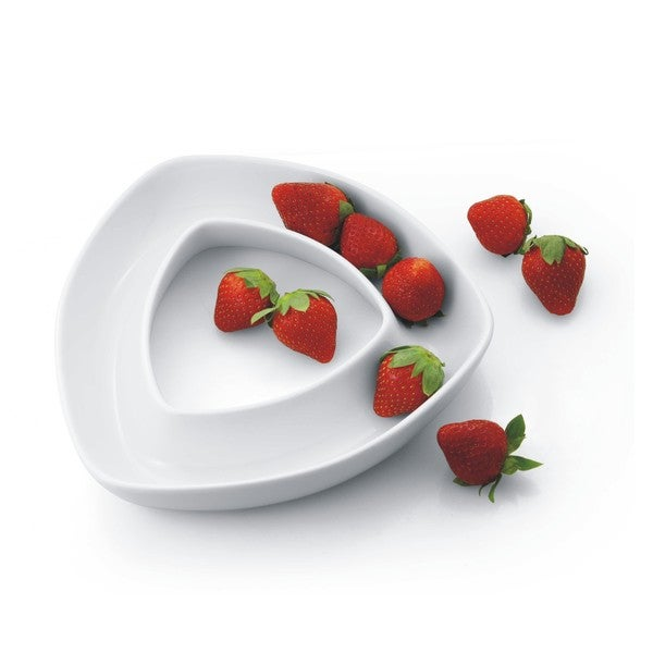 White Porcelain Triangle Appetizer Dish