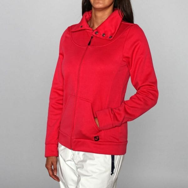 Rip Curl Women's 'Penny Lane' Bright Rose Fleece Jacket