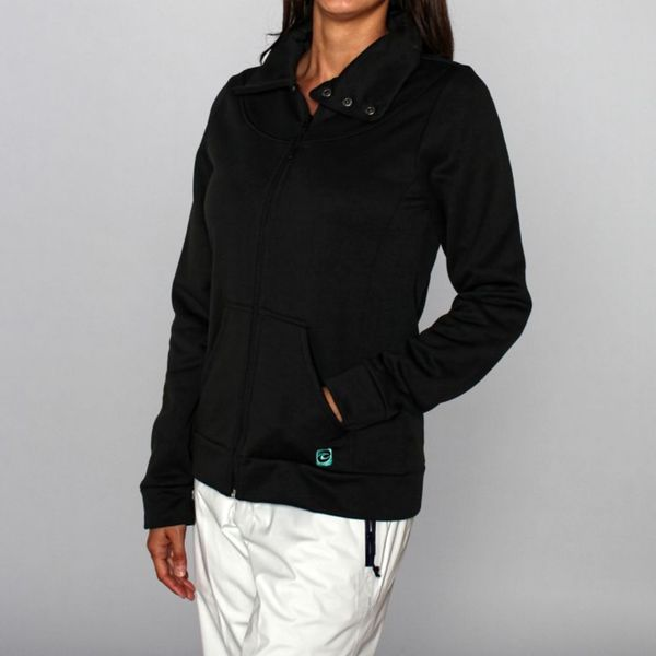 Rip Curl Women's 'Penny Lane' Black Fleece Jacket