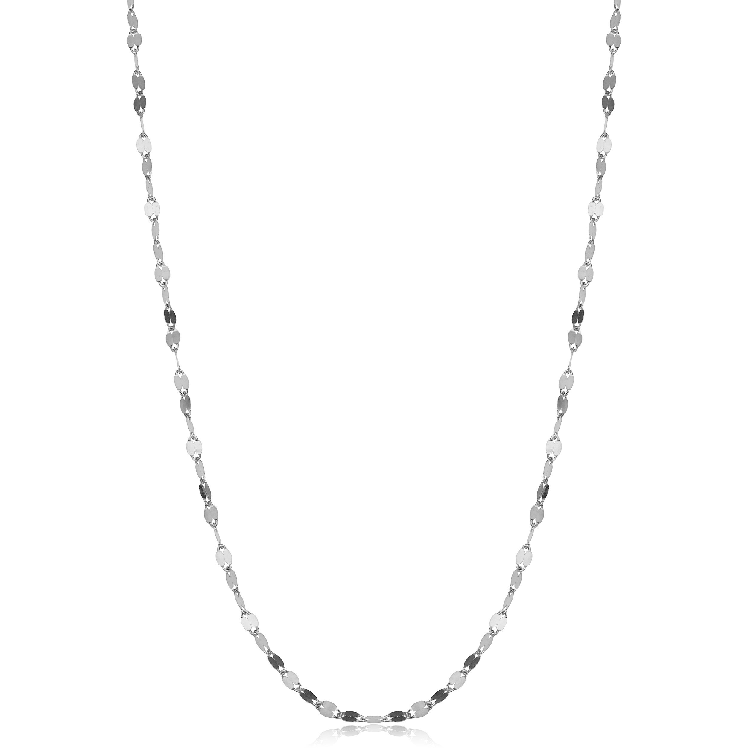 """24/"""" 14k White Gold 1.1mm Baby Rope Chain Necklace 16/"""""""