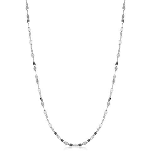 Fremada 14k White Gold 1.9-mm Mirror Flat Link Chain (16-24 inches)