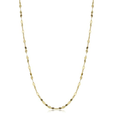 Fremada 14k Yellow Gold 1.9-mm Mirror Flat Link Chain (16-24 inches)