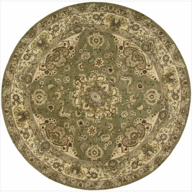Nourison 2000 Hand-tufted Tabriz Green Area Rug (6' Round)