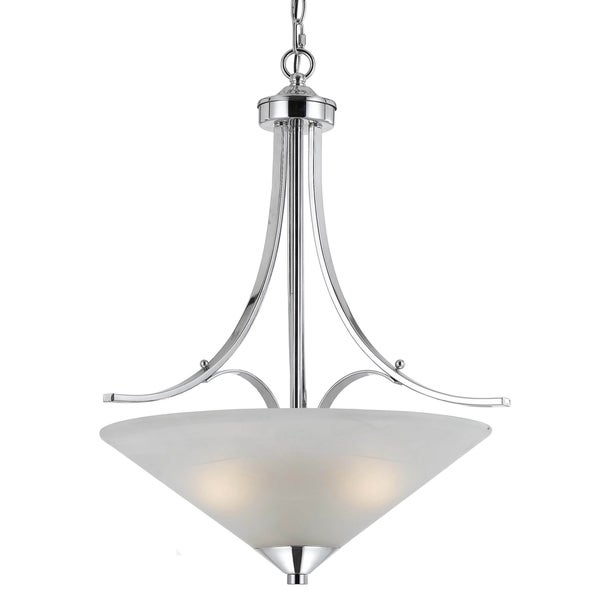 Contemporary 3-light Plated Chrome Pendant Light