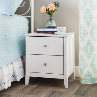 White Catalina 2-drawer Nightstand