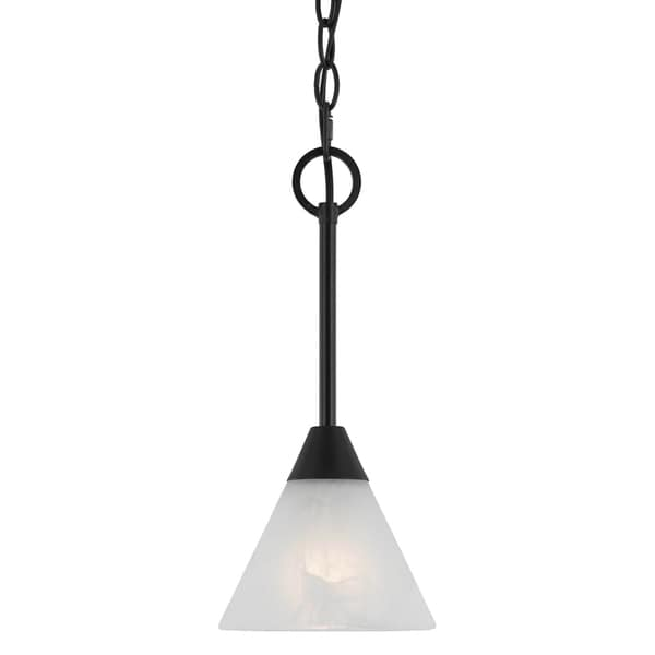 Transitional 1 light Mini Pendant in English Bronze