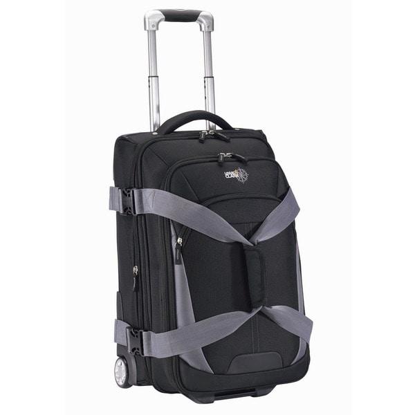Lewis N. Clark Black 25-inch Wheeled Upright Duffel Bag