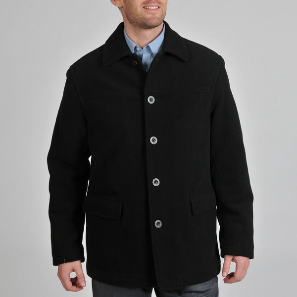 Chaps Men's Wool Blend Quilted Interior Coat