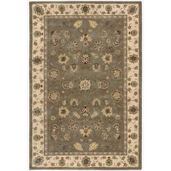 Nourison 2000 Hand-tufted Tabriz Green Rug (3'9 x 5'9)