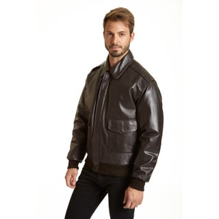 Excelled Men's Leather A-2 Bomber Jacket (More options available)