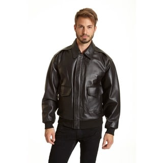 Excelled Men's Leather A-2 Bomber Jacket