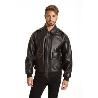 Excelled Men's Leather A-2 Bomber Jacket|https://ak1.ostkcdn.com/images/products/7258276/P14736864.jpg?impolicy=medium
