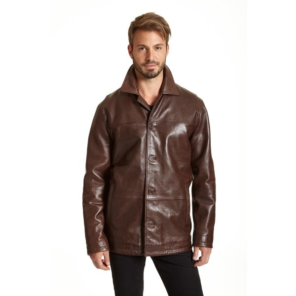 Excelled Men's Lamb Leather Car Coat (Tall Sizes) - Free Shipping ...