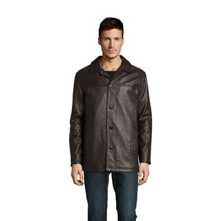 Excelled Men's Lamb Leather Car Coat (Tall Sizes) (Option: 3xlt)