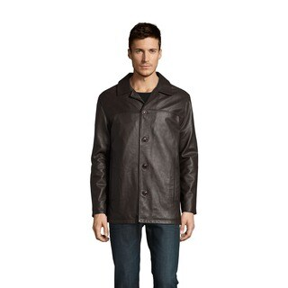 Excelled Men's Lamb Leather Car Coat (Tall Sizes) (As Is Item)