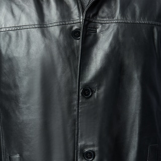 Excelled Men's Lamb Leather Car Coat