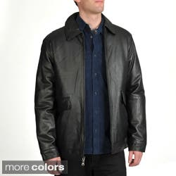 Excelled Men's Lamb Leather Straight Hem Jacket|https://ak1.ostkcdn.com/images/products/7258283/Excelled-Mens-Lamb-Leather-Straight-Hem-Jacket-P14736870t.jpg?impolicy=medium