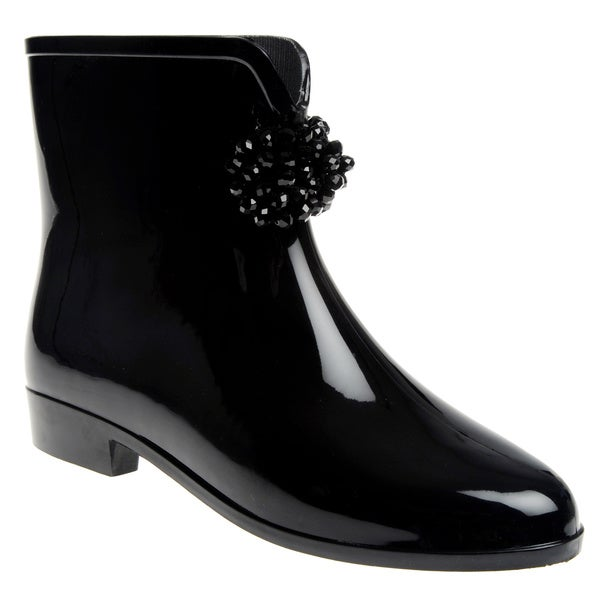 Henry Ferrera Women's Beaded Bow Rubber Rain Boots