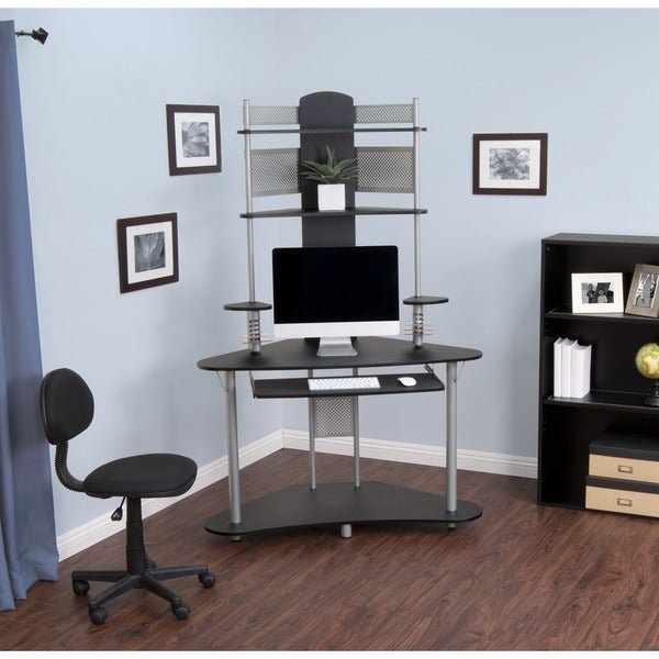 Calico Designs Silver/ Black Arch Tower