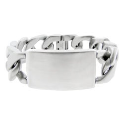 Stainless Steel Men's Chunky Curb Bracelet