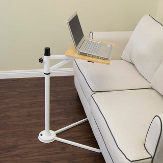 Calico Designs White/ Maple Tech Stand