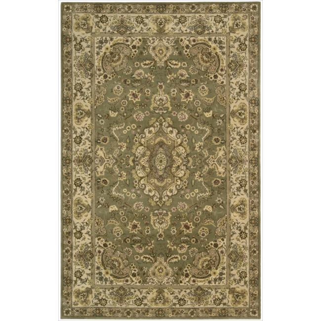 Nourison 2000 Hand-Tufted Persian-Inspired Tabriz Green Rug (2' x 3)