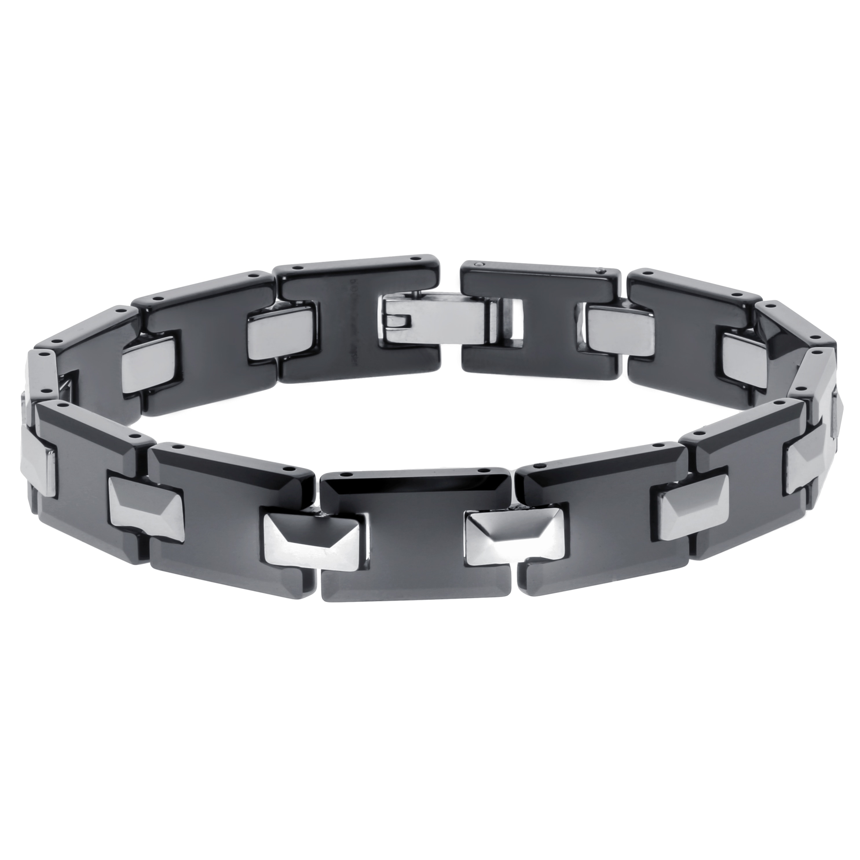 SEARS Tungsten and Ceramic Men's Link Bracelet (Link Brac...