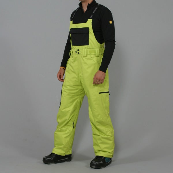 Black adult medium ski snow bib pants