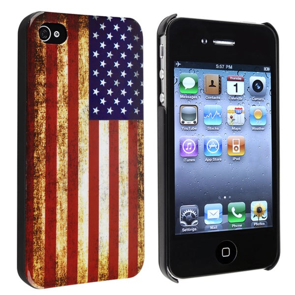 INSTEN US Flag Snap-on Phone Case Cover for Apple iPhone 4/ 4S