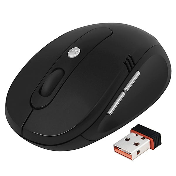 INSTEN Black 2.4G Wireless Optical Mouse Version 3