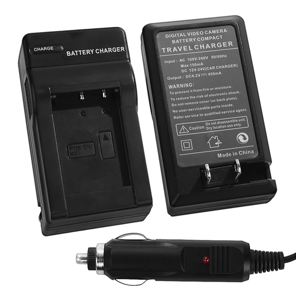 INSTEN Compact Battery Charger Set for Sony NP-BX1