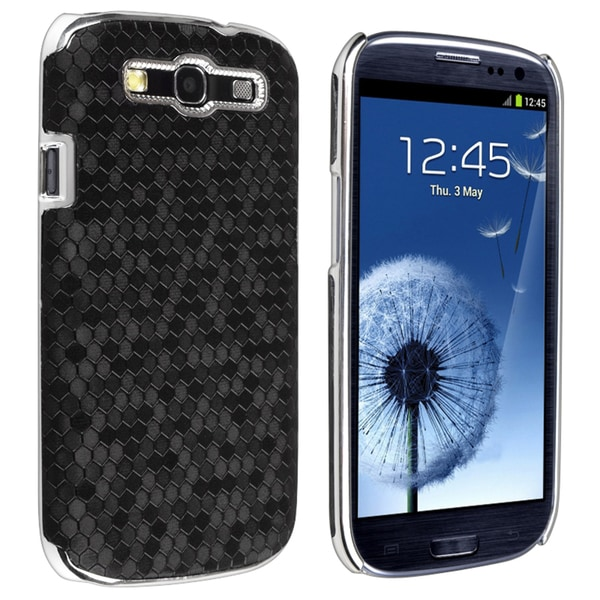 BasAcc Chrome Rear Snap-on Leather Case for Samsung Galaxy S III i9300