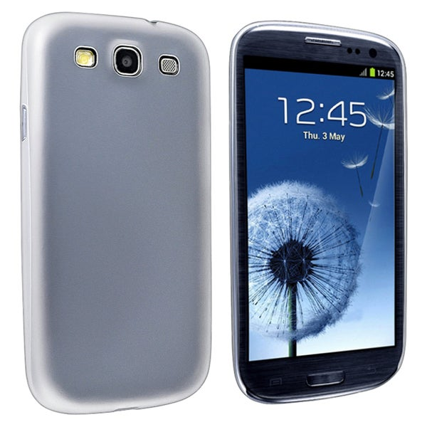 INSTEN Clear White Slim Phone Case Cover for Samsung Galaxy S III i9300