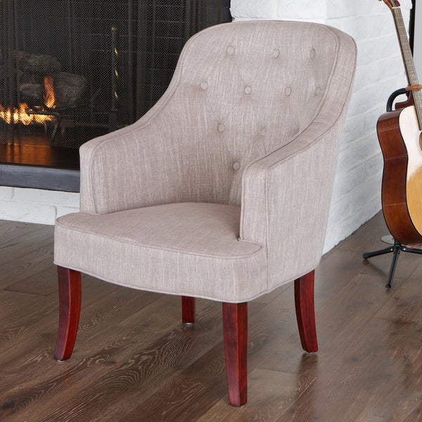 Sophia Chamois Fabric Chair by Christopher Knight Home