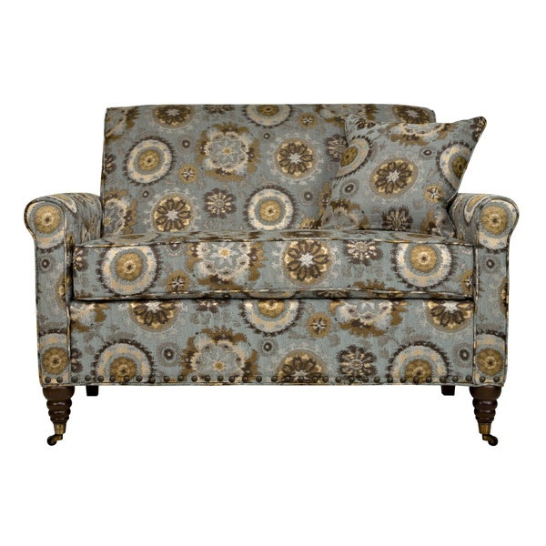 Handy Living Harlow Vintage Tapestry Blue Loveseat