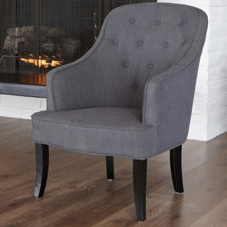 Sophia Dark Grey Fabric Chair by Christopher Knight Home