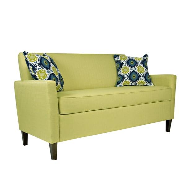 Handy Living Sutton Kiwi Lime Green Basket Sofa