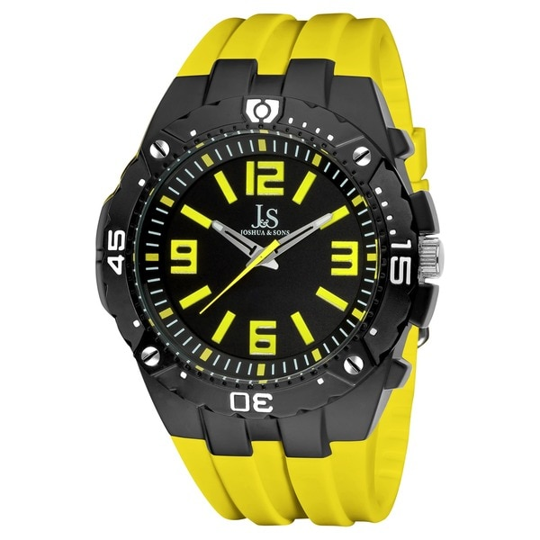 Joshua & Sons Men's Bold Swiss Quartz Chronograph Strap Watch