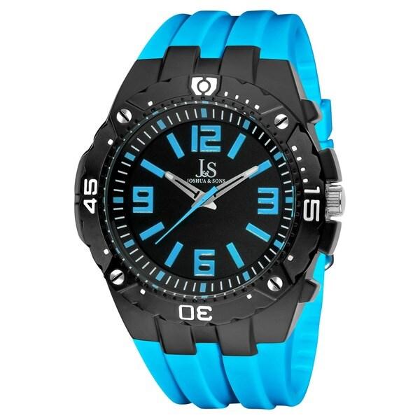 Joshua & Sons Bold Swiss Quartz Blue Strap Watch