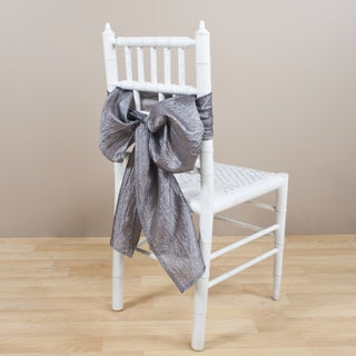 Crushed Pewter Decorative Chair Tie