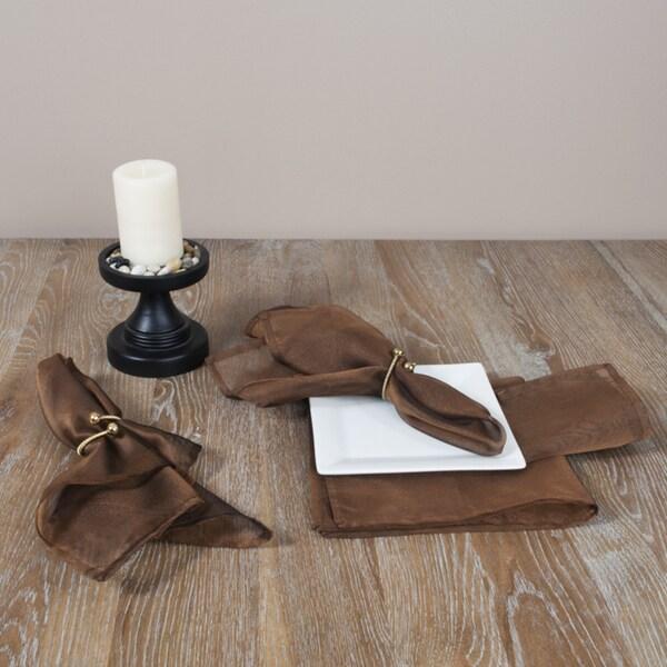 Sheer Tissue Plain Coffee Napkins (Set of 4)