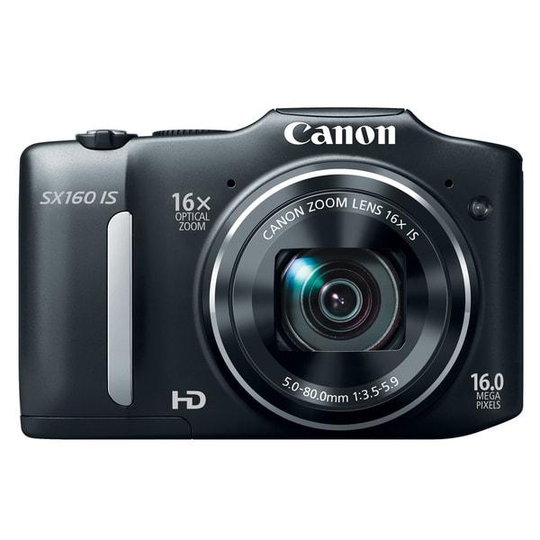 Canon PowerShot SX160 IS 16MP Black Digital Camera