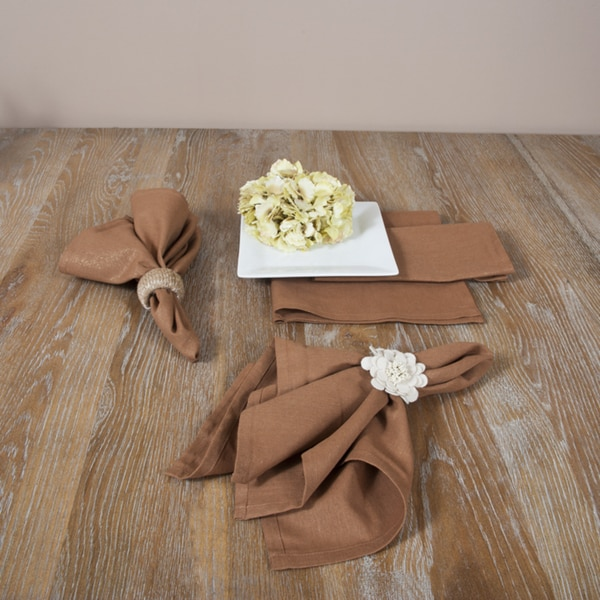 Bronze with Gold Glitter Classic Napkins (Set of 4)